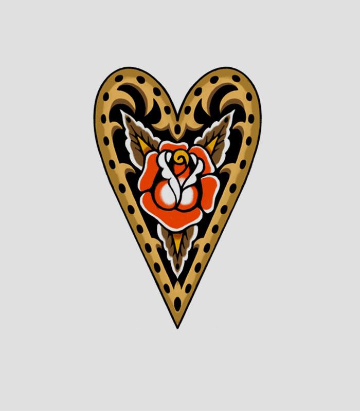Flash tattoo corazon
