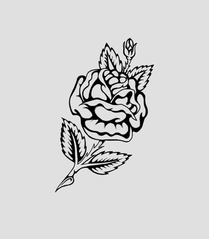Flash tattoo rosa