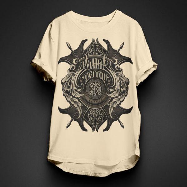 XuamaTattoo camiseta crema escudo